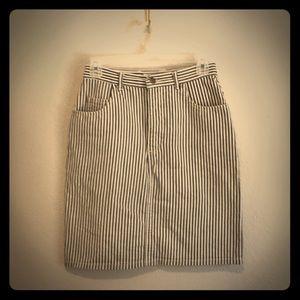 Vintage GUESS high waist stripe denim skirt
